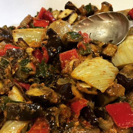 WARM ROASTED FENNEL & AUBERGINE SALAD