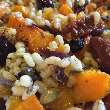 BUTTERNUT SQUASH AND PEARL BARLEY SALAD